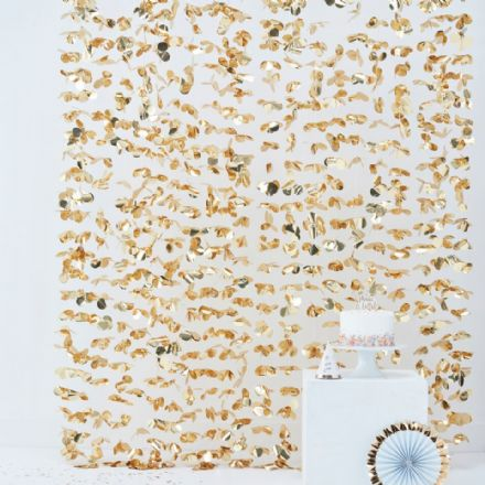 Gold Flower Petal Backdrop